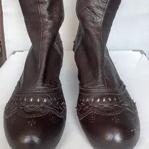 EUC Chie Mihara leather boots, size 37.5